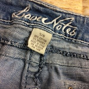 Love Notes Shorts - Cutoff Shorts